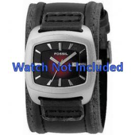 Cinturino per orologio Fossil JR9498 Pelle Nero 22mm