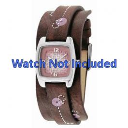 Fossil cinturino orologio JR-9512 Pelle Marrone 12mm