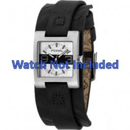 Cinturino per orologio Fossil JR9514 Pelle Nero 12mm