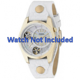 Cinturino per orologio Fossil ME1039 Pelle Bianco 18mm