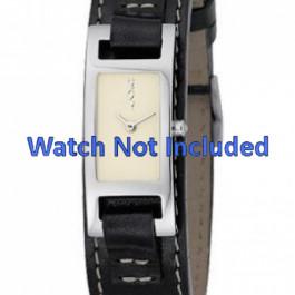 Cinturino per orologio DKNY NY3236 Pelle Nero 10mm
