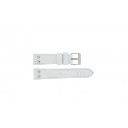 Tzevelion cinturino dell'orologio Tzev.2844.09.24 Pelle Bianco 24mm + cuciture di default