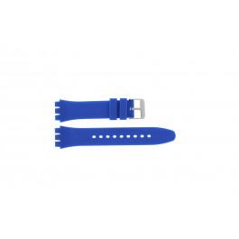 Cinturino per orologio alternativa adatta per Swatch S07 Silicone Blu 19mm