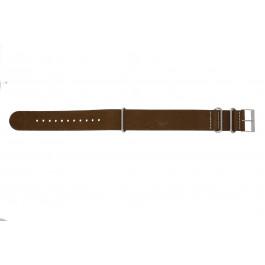Cinturino per orologio NATO UH14 Pelle Marrone 22mm