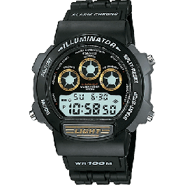 Cinturino per orologio Casio W-727H / 71602198 Plastica Nero 19mm