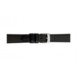 Morellato cinturino dell'orologio Point Grana ECO D0112419019CR08 / PMD019POINTE08 Cuoio morbido Nero 8mm + cuciture di default