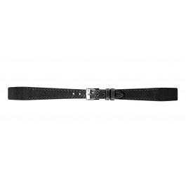 Morellato cinturino dell'orologio Aperto Flat D2664403019CR08 / PMD019APERTP08 Pelle Nero 8mm + cuciture di default