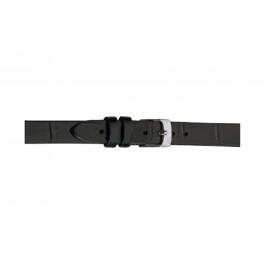 Morellato cinturino dell'orologio Thin D2860656019CR08 / PMD019THINA08 Pelle di coccodrillo Nero 8mm