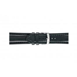 Morellato cinturino dell'orologio Wide U4026A37019CR28 / PMU019WIDE28 Cuoio morbido Nero 28mm + cuciture di default