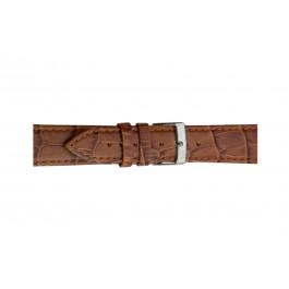 Morellato cinturino dell'orologio Bolle X2269480041CR12 / PMX041BOLLE12 Pelle di coccodrillo Marrone 12mm + cuciture di default