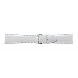 Morellato cinturino dell'orologio Extra Napa X3395875017CR30 / PMX017EXTRAN30 Pelle Bianco 30mm + cuciture di default