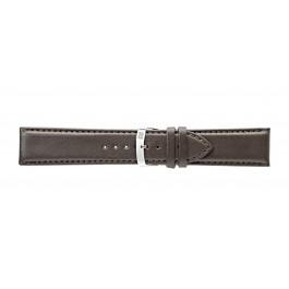 Morellato cinturino dell'orologio Extra Napa X3395875032CR30 / PMX032EXTRAN30 Pelle Marrone scuro 30mm + cuciture di default
