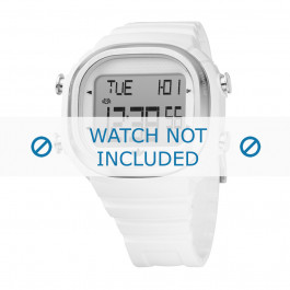 Adidas cinturino orologio ADH2044 Plastica Bianco 21mm