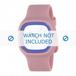 Alessi cinturino dell'orologio AL10023 Gomma / plastica Rosa