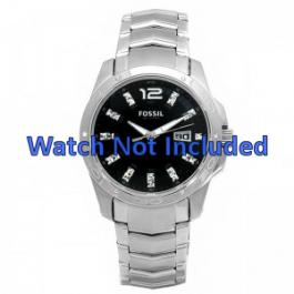 Fossil cinturino dell'orologio AM4089 Metallo Argento 22mm