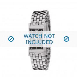 Armani cinturino orologio AR-0108 Acciaio Argento 19mm