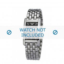Armani cinturino orologio AR-0115 Acciaio Argento 14mm