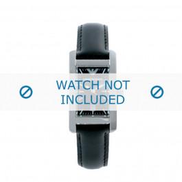 Cinturino per orologio Armani AR0122 Pelle Nero 14mm