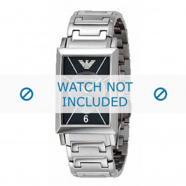 Armani cinturino orologio AR-0140 Acciaio Argento 20mm