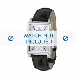 Armani cinturino orologio AR-0141 Pelle di coccodrillo Nero 20mm