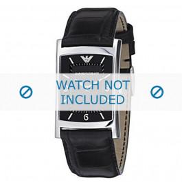 Armani cinturino orologio AR-0147 Pelle di coccodrillo Nero 22mm