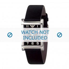 Armani cinturino orologio AR-0209XL Pelle Nero 20mm