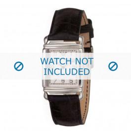 Armani cinturino orologio AR-0232 Pelle di coccodrillo Nero 18mm