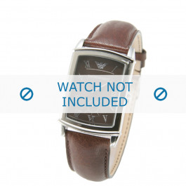 Armani cinturino dell'orologio AR0237 Pelle Marrone 21mm
