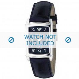 Armani cinturino orologio AR-0239 Pelle di coccodrillo Nero 20mm