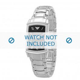 Armani cinturino orologio AR-0246 Acciaio Argento 16mm
