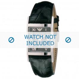 Cinturino per orologio Armani AR0247 Pelle Nero 22mm