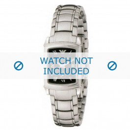 Armani cinturino orologio AR-0250 Acciaio Argento 15mm