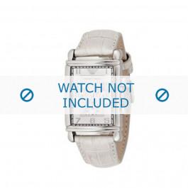 Armani cinturino orologio AR-0295 Pelle di coccodrillo Bianco 22mm