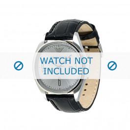 Armani cinturino orologio AR-0311 Pelle di coccodrillo Nero 22mm