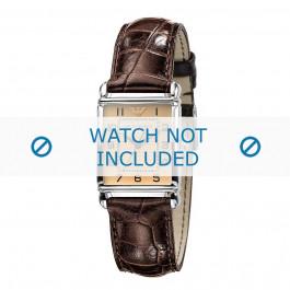 Armani cinturino orologio AR-0404 Pelle di coccodrillo Marrone 18mm