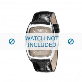 Armani cinturino dell'orologio AR0409 Pelle Nero 23mm
