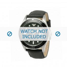 Cinturino per orologio Armani AR0555 Pelle Nero 26mm