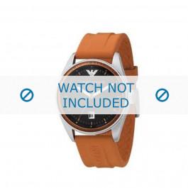 Armani cinturino orologio AR-0561 Gomma Arancione 23mm