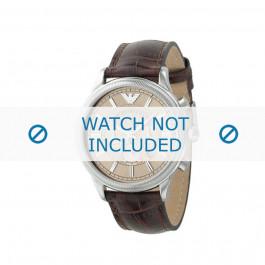Cinturino per orologio Armani AR0562 Pelle Marrone 21mm