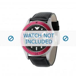 Cinturino per orologio Armani AR0567 Pelle Nero 26mm