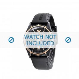 Cinturino per orologio Armani AR0584 / AR0595 Gomma Nero 23mm
