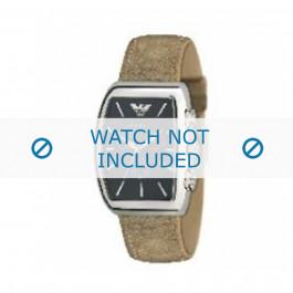 Armani cinturino orologio AR-0907 Pelle Marrone chiaro 22mm