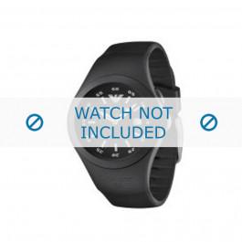 Armani cinturino orologio AR-1100 Gomma Nero 16mm