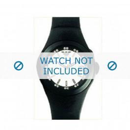 Armani cinturino orologio AR-1102 Gomma Nero 16mm