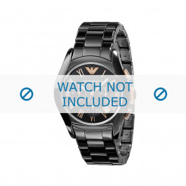 Cinturino per orologio Armani AR1410 Ceramica Nero 22mm