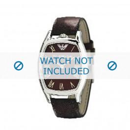 Armani cinturino orologio AR-2404 Pelle Marrone scuro 20mm