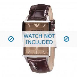 Armani cinturino orologio AR-2419 Pelle di coccodrillo Marrone 22mm