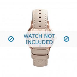 Cinturino per orologio Armani AR2466 Pelle Beige 20mm