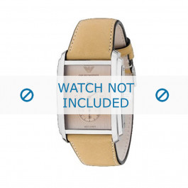 Armani cinturino orologio AR-4202 Pelle Bianco crema 26mm
