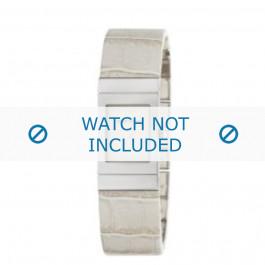 Armani cinturino orologio AR-5482 Pelle di coccodrillo Bianco crema 18mm